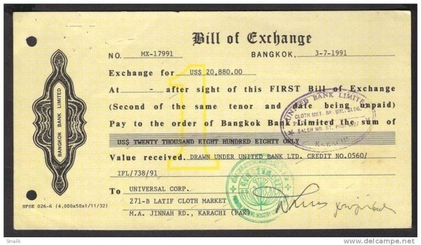 bill of exchange The bill of exchange is a specialized type of international draft commonly used to  expedite foreign money payments in many international.