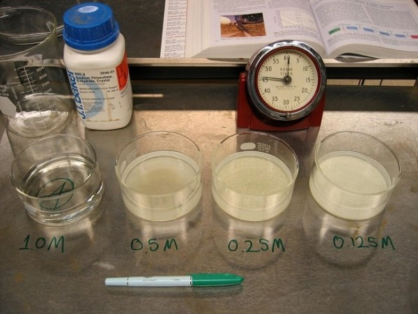 sodium thiosulfate reaction The purpose of this experiment is to determine the rate equation for the reaction  between sodium thiosulphate and hydrochloric acid by determining the order of.